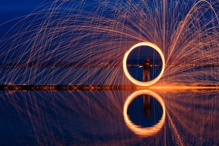 Image from a light painting evening organised by Reflex Camera Club