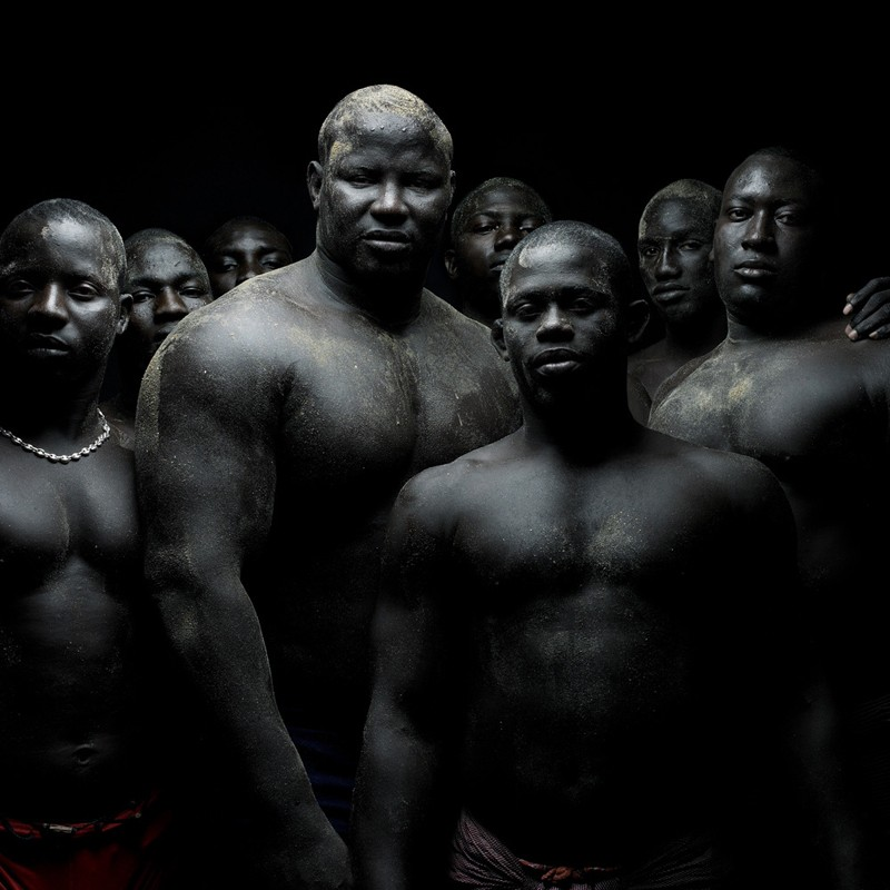"Portrait of Senegalese Wrestlers ""Lamb"" by Denis Rouvre"