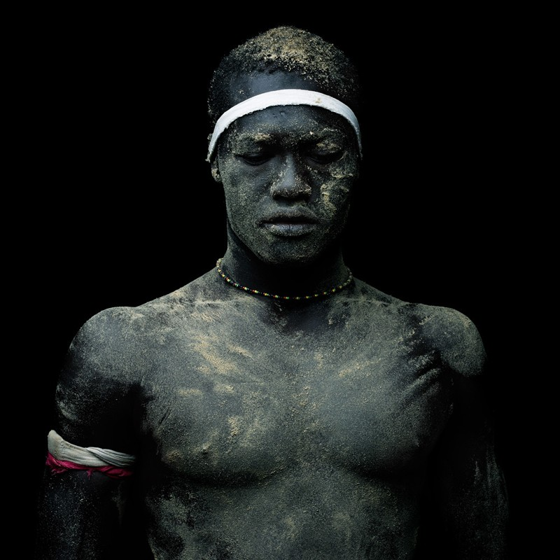 Portrait of Senegalese Wrestler by Denis Rouvre