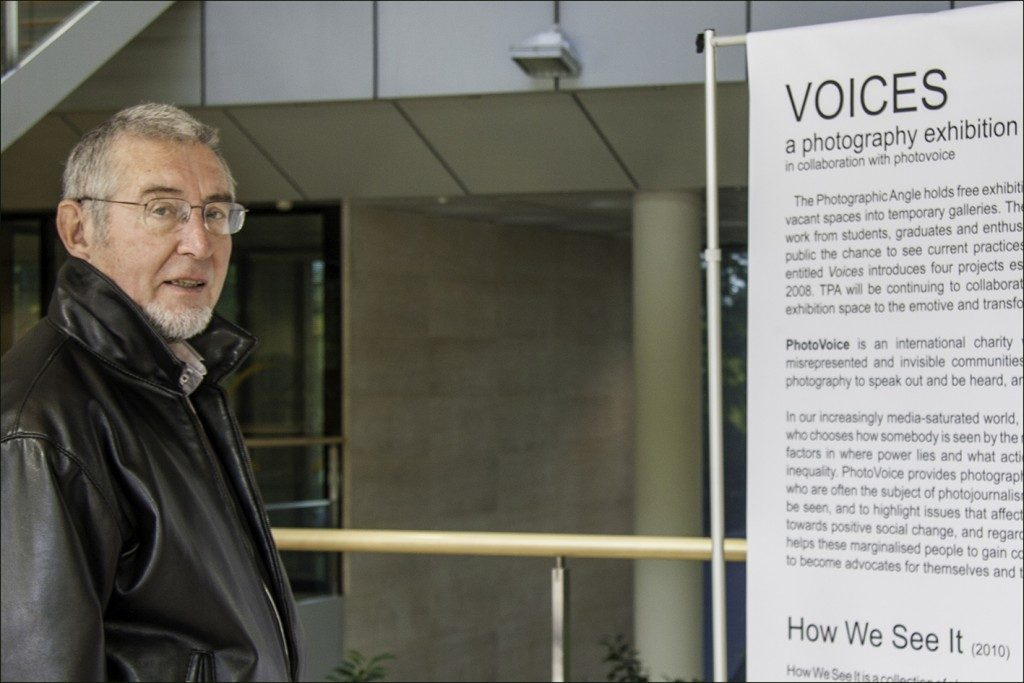 James Torr, Chairman of Chalfonts & Gerrards Cross Camera Club, visits TPA exhibition Voices