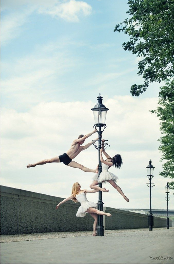 Ballerina on a Lampost by Benjamin Von Wong