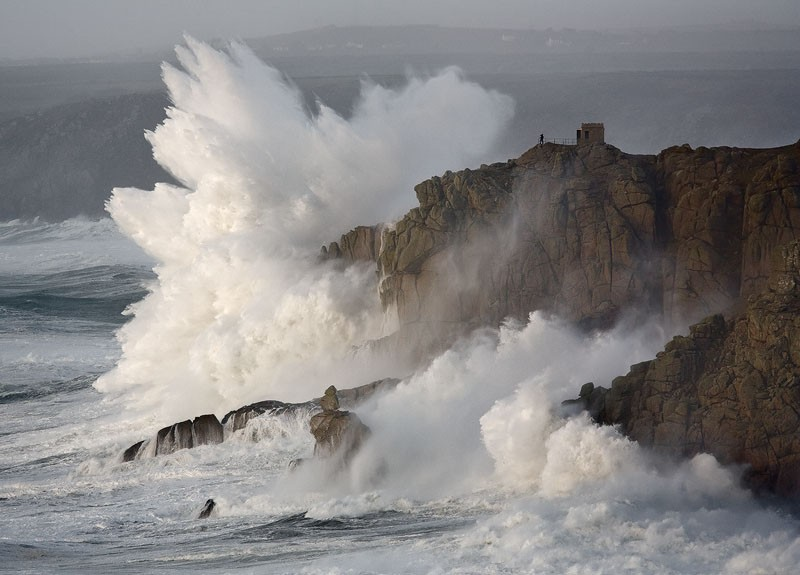 Detonate by David Clapp capturing the Cliffs at Landsend in Cornwall
