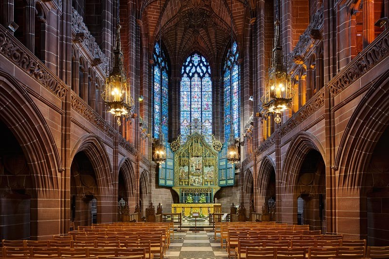 Holistix by David Clapp captured in The Lady Chapel inside Liverpool Cathedral, UK