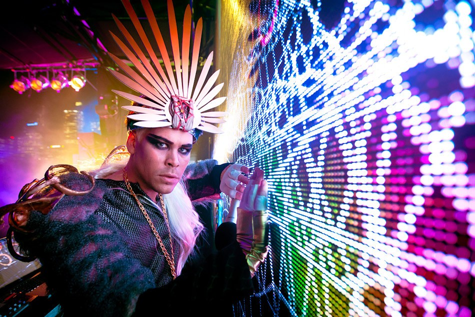 launch of PlayStation Vita on a floating bar on Sydney Harbour with Empire of the Sun DJ Luke Steele by Daniel Boud