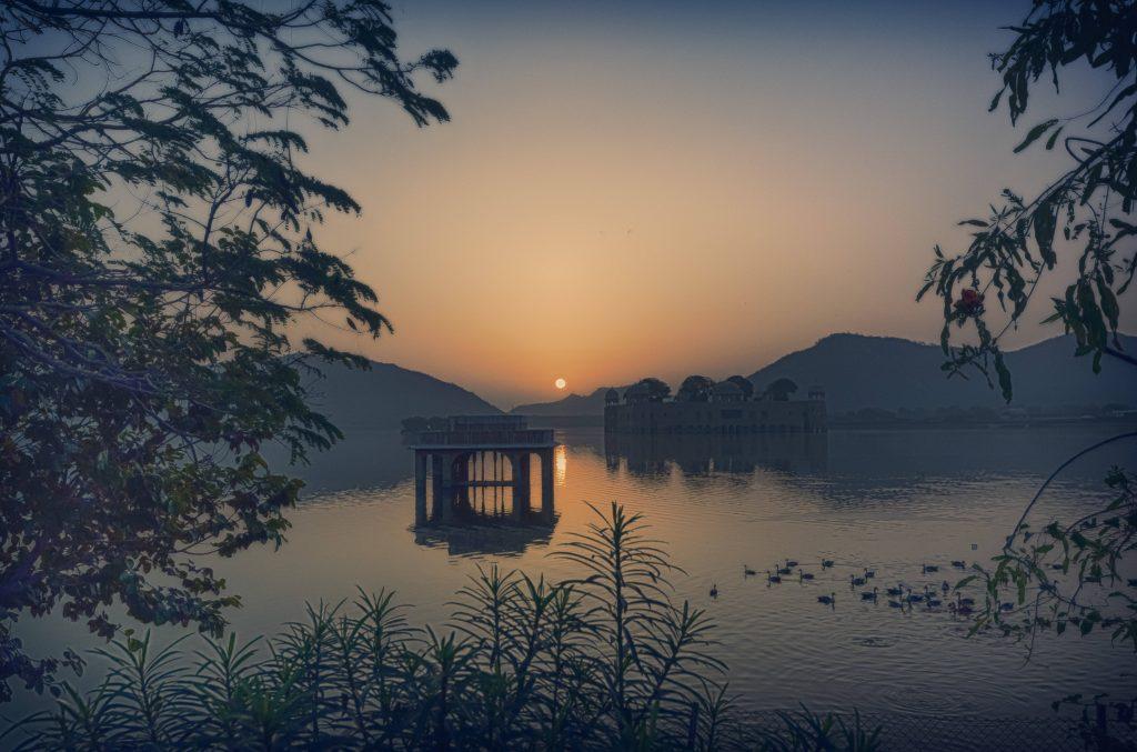 Kannan Muthuraman, Sunrise at Jal Mahal, Jaipur, India.