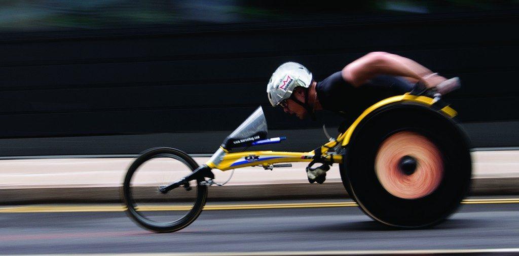 Wheelchair racer by Martin Parratt
