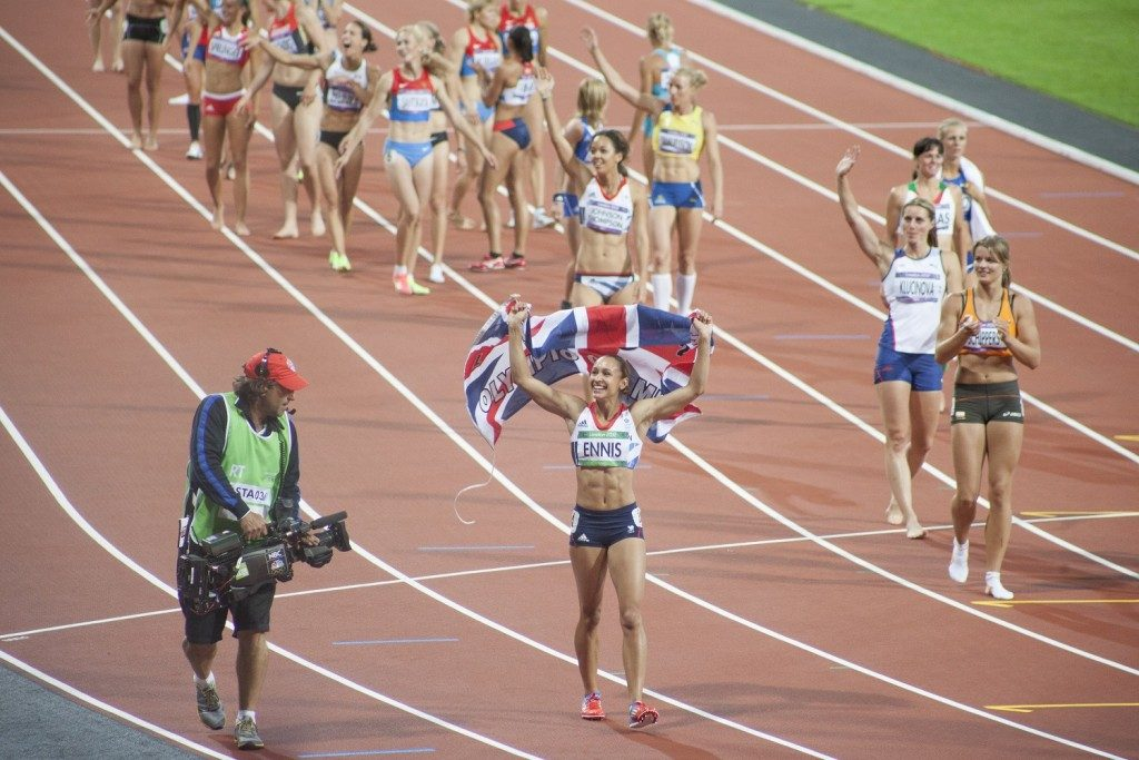 082 Lucy Millson-Watkins. Jessica Ennis wins Gold at London 2012