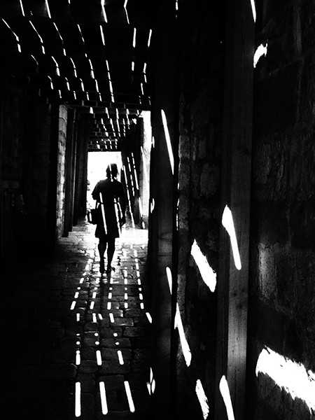 light tunnel by Rupert Vandervell