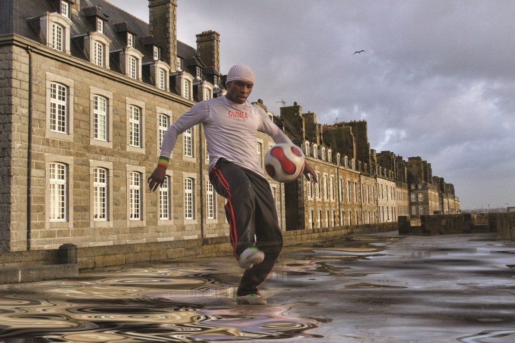 The Footballer Sheila Haycox St. Malo France - Streetscapes exhibition