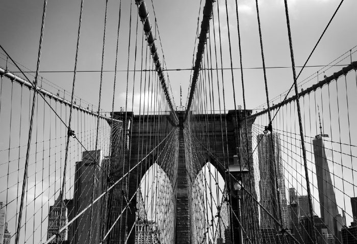 Liliana Danovaro, Ropes, Brooklyn Bridge, New York, USA.